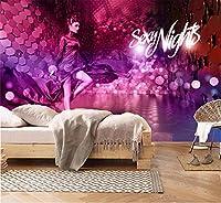 Bzbhart カスタム任意のサイズ3d壁紙ファッション人格少女屋内テレビ背景壁装飾壁画壁紙-120cmx100cm