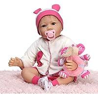 NPKDOLLシミュレーションRebornベビー人形ソフトSilicone 22インチ55 cmビニールLifelike Vivid Toy Boy Girlピンク象