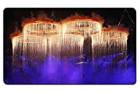 ロンドンオリンピックの開会式、花火五環 パターンカスタムの マウスパッド 旅行 風景 景色 デスクマット 大 (60cmx35cm)