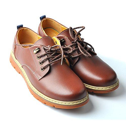 Rock Dan (全4色)革靴 メンズ 手作り ローカット レースアップシューズ 本革 ワークブーツ カジュアルシューズ スニーカー デザートブーツ 通勤用 Brogue shoes 防滑 24.5cm~27cm