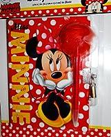 Disney MinnieマウスDiary with Pen,ロック&キー–5Piece Set