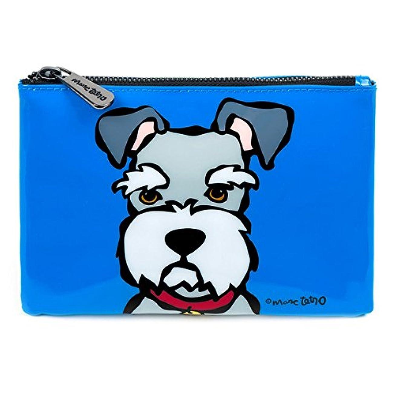 初期ボウリング責任シュナウザー コスメバッグ 防水PVC ファスナー式 化粧ポーチ 小物入れ 13.5cm x 19cm 犬デザイン ミニバッグ Cosmetic Bag