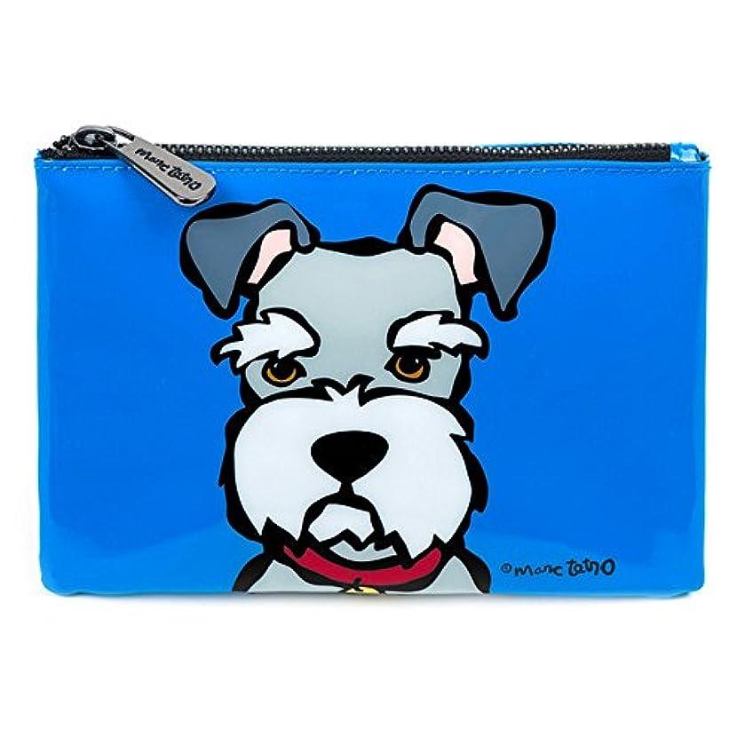 大工腹部わずかなシュナウザー コスメバッグ 防水PVC ファスナー式 化粧ポーチ 小物入れ 13.5cm x 19cm 犬デザイン ミニバッグ Cosmetic Bag