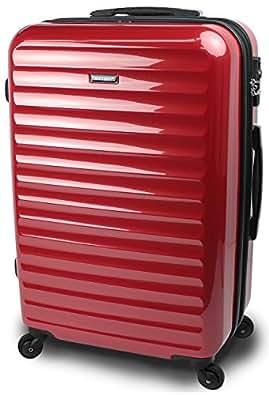 【SUCCESS サクセス】 TSAロック 搭載 超軽量 スーツケース 【3サイズ( 大型・中型・小型)】 【ヴィアーノ2016 ダブルファスナーモデル】 鏡面ミラー加工 (中型 67cm, レッド)