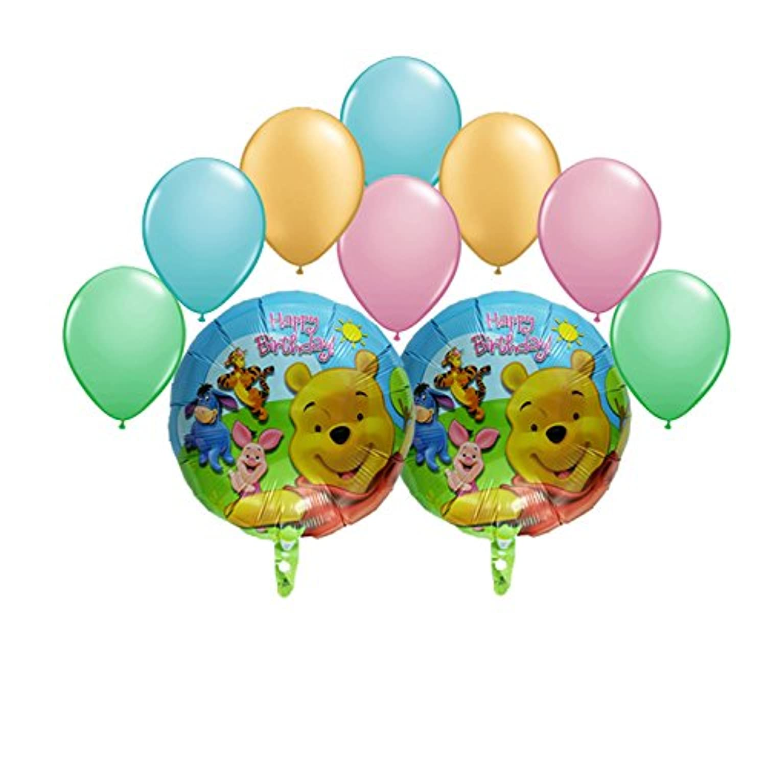 Winnie the Pooh and Friends Happy誕生日バルーンブーケ10 pc