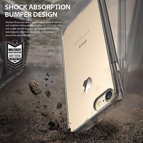 『【Ringke】iPhone 8 / iPhone 7 ケース 対応 コスパ最高 クリア 透明 落下防止 ストラップホール スマホケース [米軍MIL規格取得] TPU PC 二重構造 吸収耐衝撃カバー Qi充電対応 Fusion (Clear/クリア)』の7枚目の画像