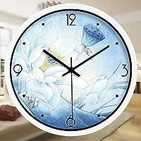ANDEa 中国のスタイルの腕時計と時計のウォールクロック居間のインクDanqingロータス時計クォーツ時計のベッドルームのミュートの壁時計 クリエイティブ.a ( 色 : #2 , サイズ さいず : 34.5CM )