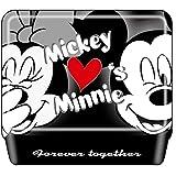デルフィーノ ディズニー 缶入りWクリップ ミッキー&ミニー ハート DZ-80131