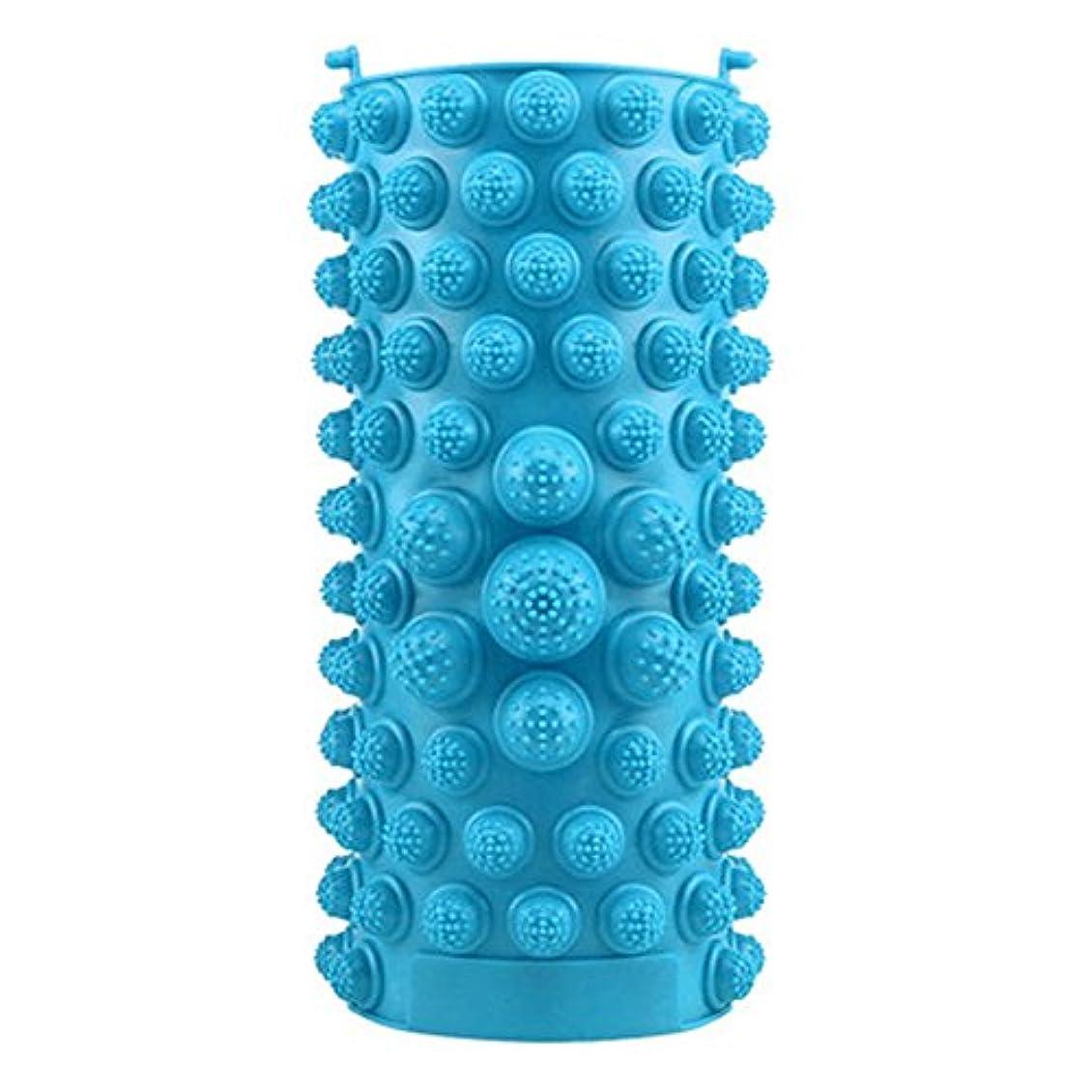 電球後ろに北米YZRCRKFad's Dayギフトマッサージクッション子供ホームマッサージクッションフットマッサージクッション鍼灸ポイントフットパッドマッサージクッション (色 : 青)