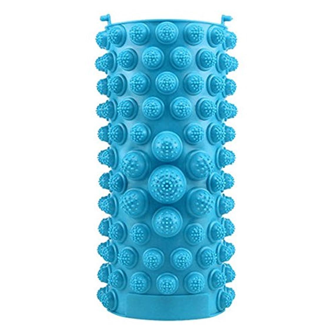 落花生明確なリムYZRCRKFad's Dayギフトマッサージクッション子供ホームマッサージクッションフットマッサージクッション鍼灸ポイントフットパッドマッサージクッション (色 : 青)