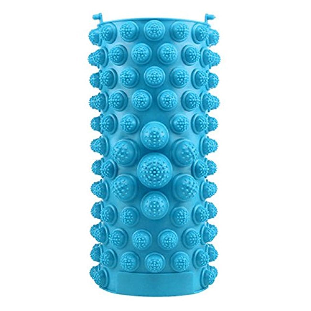 ノイズハントあざYZRCRKFad's Dayギフトマッサージクッション子供ホームマッサージクッションフットマッサージクッション鍼灸ポイントフットパッドマッサージクッション (色 : 青)