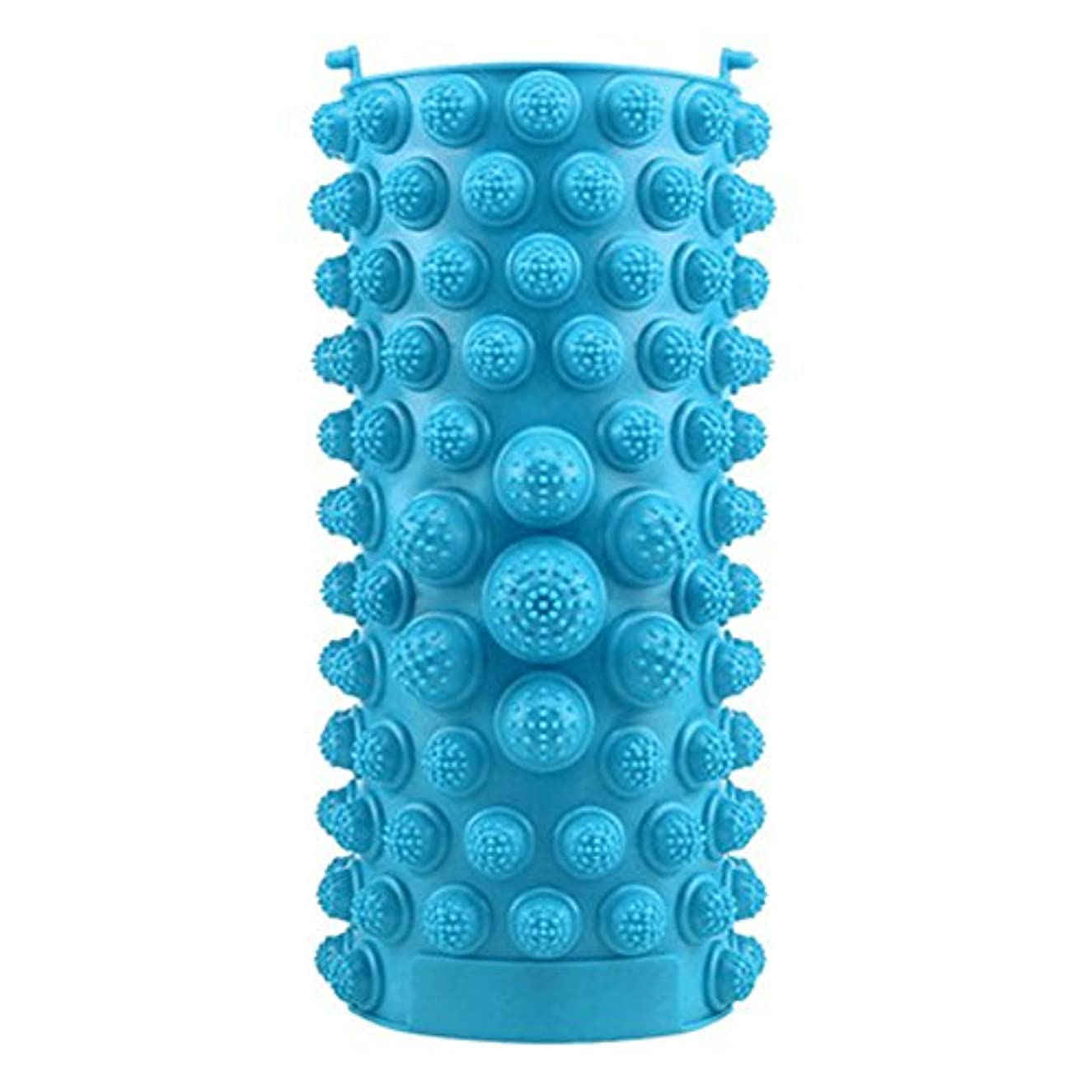 数新年イルYZRCRKFad's Dayギフトマッサージクッション子供ホームマッサージクッションフットマッサージクッション鍼灸ポイントフットパッドマッサージクッション (色 : 青)
