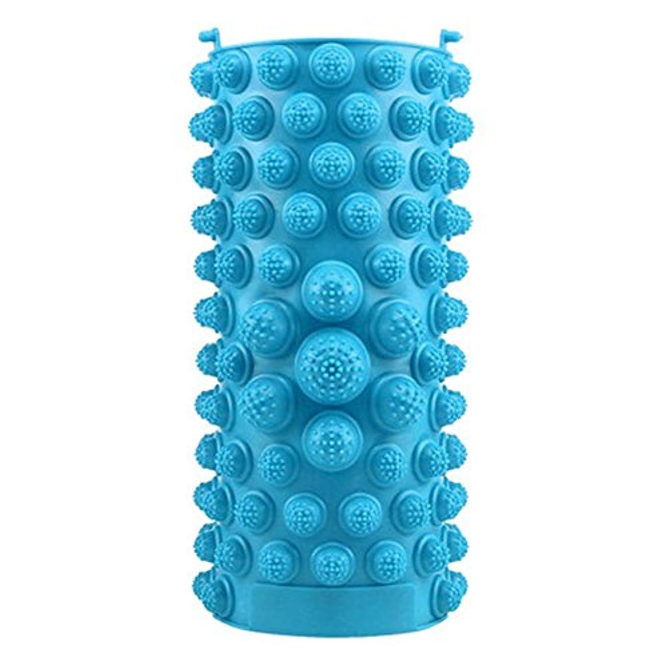 退屈させる不適ゲートウェイYZRCRKFad's Dayギフトマッサージクッション子供ホームマッサージクッションフットマッサージクッション鍼灸ポイントフットパッドマッサージクッション (色 : 青)