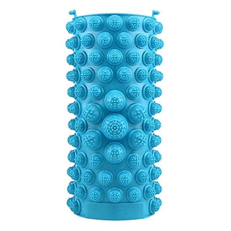 毒性ながら姿勢YZRCRKFad's Dayギフトマッサージクッション子供ホームマッサージクッションフットマッサージクッション鍼灸ポイントフットパッドマッサージクッション (色 : 青)