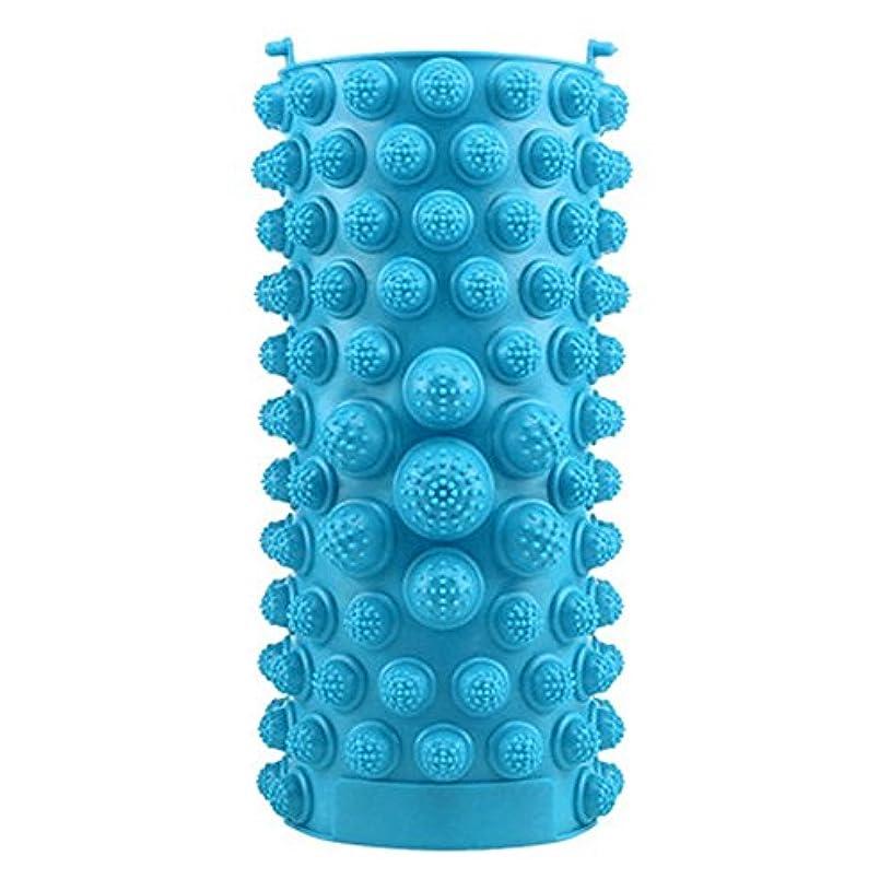 比喩すべきレジデンスYZRCRKFad's Dayギフトマッサージクッション子供ホームマッサージクッションフットマッサージクッション鍼灸ポイントフットパッドマッサージクッション (色 : 青)