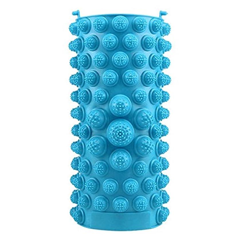 裁判所苦ゴシップYZRCRKFad's Dayギフトマッサージクッション子供ホームマッサージクッションフットマッサージクッション鍼灸ポイントフットパッドマッサージクッション (色 : 青)