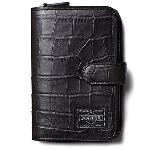 ヘッドポーター 財布 HEAD PORTER 二つ折り財布 メンズ CROCO クロコ ブラック(黒)SP-1118 HEAD PORTER