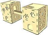 3層強化ダンボール製 猫が選んだ『ニャンだ!!ハウス』 2戸用