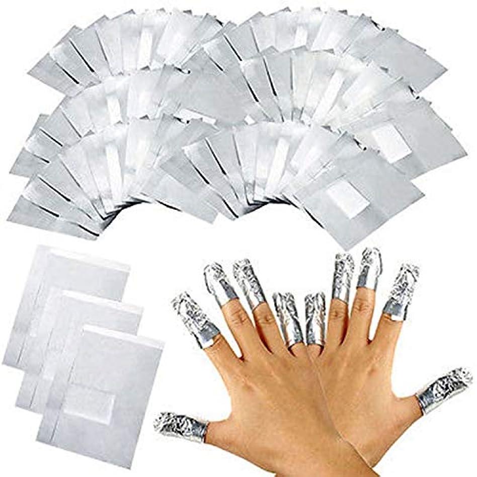 ピクニックをする気まぐれな遊びますマニキュアツールツール ジェルオフリムーバーコットン付き アルミホイル アクリルUVジェルをきれいにオフする ジェル ネイル マニキュアツール用品 100枚入り