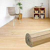 ウッドカーペット 6畳用 団地間6畳用 約243x345cm [ナチュラル色] [PJ-40シリーズ] [4色展開] DIY フローリング 木目 簡単 敷くだけ シート セルフリフォーム 低ホルマリン [並行輸入品]