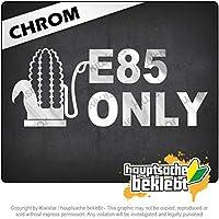 E85のみ E85 only 20cm x 8cm 15色 - ネオン+クロム! ステッカービニールオートバイ