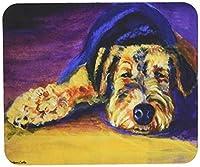 Caroline's Treasures Snoozer Airedale Terrier Mouse Pad/Hot Pad/Trivet (7344MP) [並行輸入品]