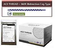 【並行輸入】 ACE PDO Thread lift Korea (リフティング糸 / メソン / 漢方病院針 / 鍼 ) / Ultra V-Lift / Face Lift - 3D-360R Bidirection Cog Type / Sharp needle (100pcs) (23G90)