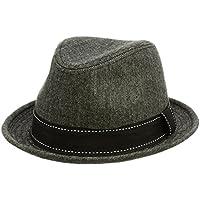 (エクサス)EXAS (大きめ61cm)シャンブレーマニッシュ中折れハット(中折れ帽 中折れ帽子)