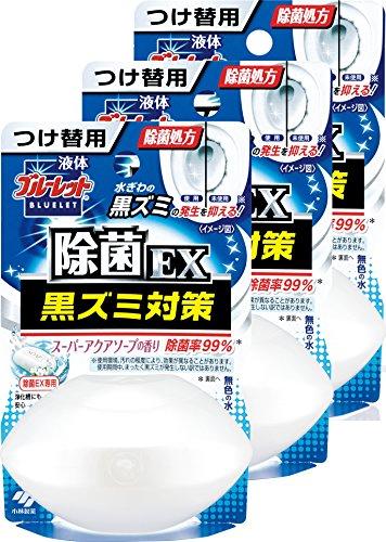 【まとめ買い】液体ブルーレットおくだけ除菌EX トイレタンク芳香洗浄剤 詰め替え用 スーパーアクアソープの香り 70ml×3個