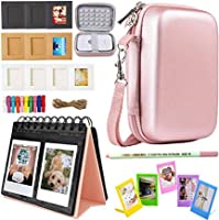 SAIKA HP Sprocket and Polaroid Zip Instant Printer Accessories - HP Sprocket Portable Photo Printer Case Photo Album Wall Hanging Frame Table Frame and Paintbrush - Rose Gold