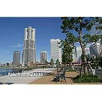 ポストカードAIR【観光地シリーズ】「Yokohama, Japan」横浜みなとみらい ランドマークタワー フォトカードハガキはがき絵葉書postcard-