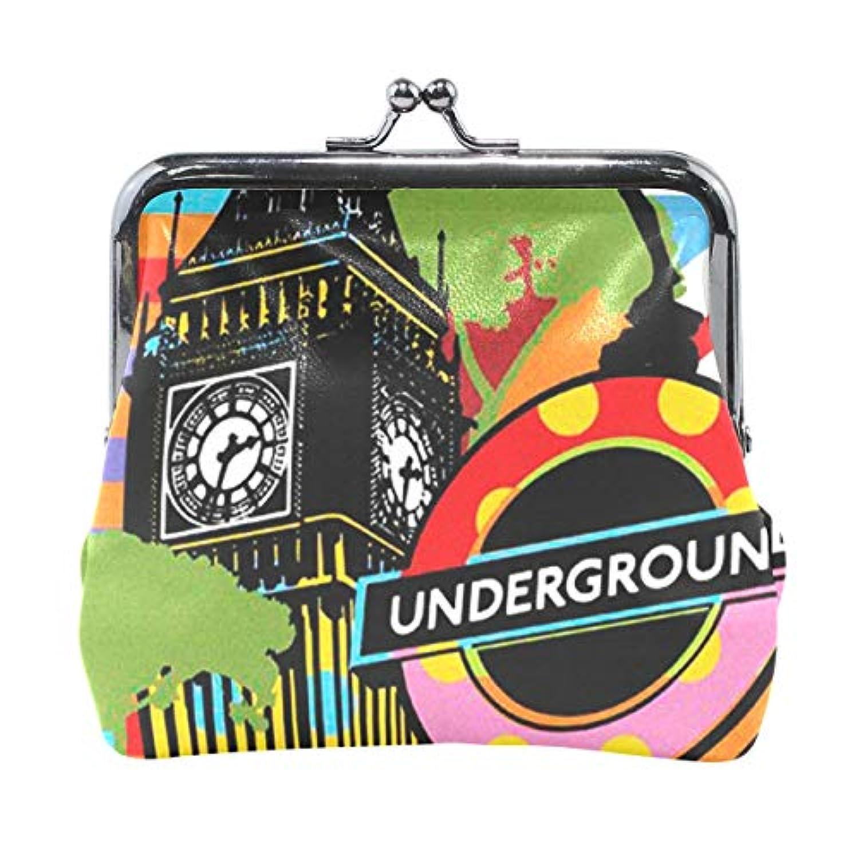 がま口 小銭入れ 財布 ロンドン コインケース レザー製 丸形 軽量 人気 おしゃれ プレゼント ギフト 雑貨