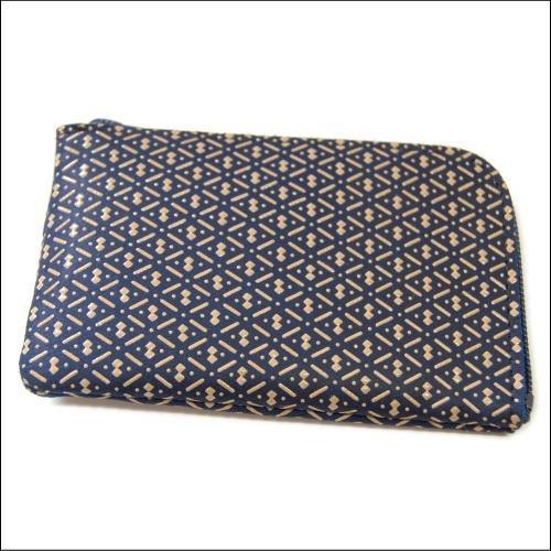 印傳屋 印伝 小銭入れ 1001 紺×白 和 和風 和柄 日本製 ギフトに。 (ひょうたん)