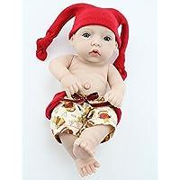 NPKDOLL Rebornベビー人形Hard Silicone 11インチ28 cmビニール防水Toyレッド帽子Boy