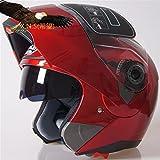 X.N.S(希望)JK-105 バイクヘルメット フルフェイスヘルメット システムヘルメット ダブルシールド ジェット モンスターエナジー (XL, 赤)