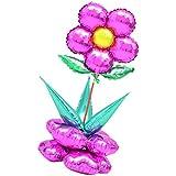 Kesoto 1セット フラワーバルーン 大きな花 花のバルーンコラムセット ベビーシャワー 子供 パーティー 風船 飾り 装飾 全6色選べる - ローズレッド