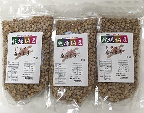 乾燥納豆 フリーズドライ 170g×3袋セット チャック付き