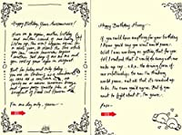 Quiplip Handwritten Yours Truly Birthday Cards 6-Pack (YT02096PCK) [並行輸入品]