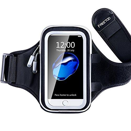 FREETOO スポーツアームバンド アームバンドケース アームポーチ 防汗 タッチ操作 イヤホーンコード固定 iPhone6/6s/6 plus、Xperiaなど 5.5-4.7インチのスマホに アーム ランニング