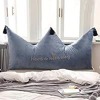 クラウンピローベッド枕シンプルモダンベッドルームソフトバッグプリンセスウィンドベッドクッションラージバック(カラー:A、サイズ:120cm)