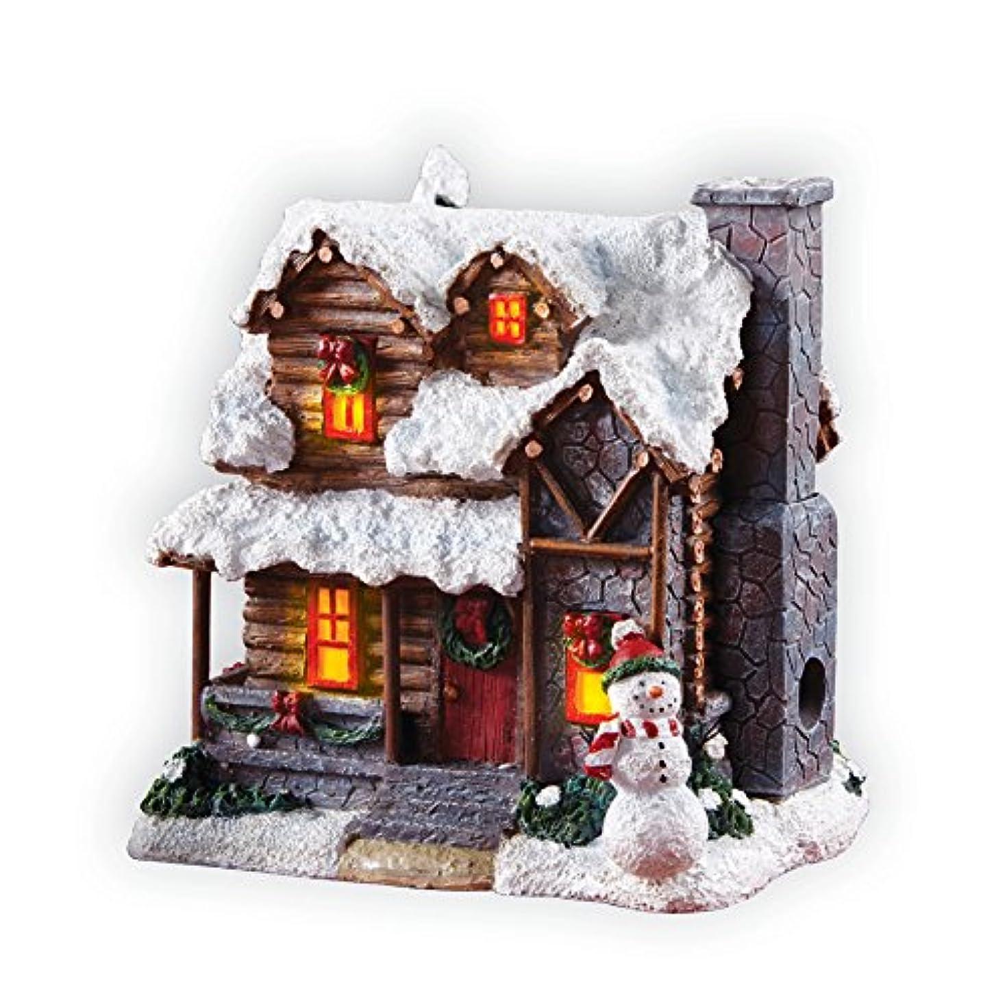 崩壊プログラム曇ったSmoking Country Christmas Village Cabin Incense House