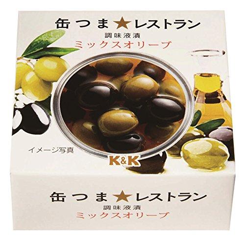 K&K 缶つまレストラン ミックスオリーブ 75g×2個