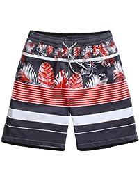 SANKU メンズ水着 ハワイスタイル ゴムウェスト 防水速乾 水陸両用 スイムショーツ スイムウェア 水着 メンズ ビーチパンツ サーフパンツ ショートパンツ 短パン 海パン 海水パンツ おしゃれ 大きいサイズ