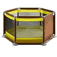 BSNOWF-ベビーサークル パッドクッション付きのプレイペイントポータブル屋内屋外幼児用ルームディバイダーフェンス折り畳み式安全プレイセンター