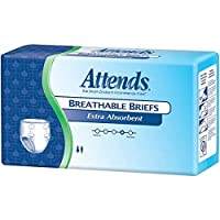 Attends Extra Absorbent Breathable Briefs, Medium, Pack/24 by Attends