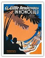 ホノルルのリトル・ランデブー - ビンテージなシートミュージック によって作成された クリフ・ミスカ c.1936 - アートポスター - 28cm x 36cm