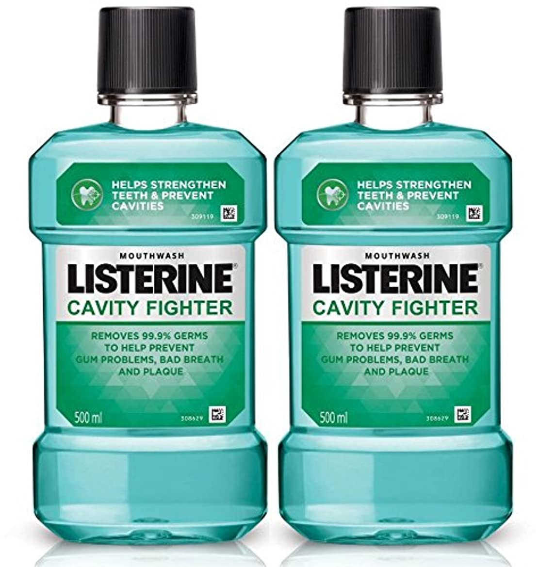 シャットビリー彫刻家Listerine Cavity Fighter Mouthwash 500ml (Pack of 2)