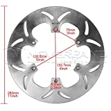 1pcs Rear Brake Disc Rotor For YAMAHA FJR ABS 1300 2003-2015 XVS DRAG STAR 1100 1999-2006 MotorcycleProduct DescriptionFeatures:Made of Low-carbon high grade stainless steelHi-end laser cut technology, heat resistance test on each discExpandable and contactable, offer great friction during brakeHigh performanceExcellent heat dissipationFitment: For YAMAHA FJR ABS 1300 2003-2015For YAMAHA XVS DRAG STAR 1100 1999-2006 Specifications:SKU: M20-ZC854Condition: 100% Brand NewColor: As picture showMate