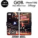GoDooR グッダー デザイン244 iPhone 全機種対応 手帳型 ダイアリー スマホケース マイケル ジョーダン バスケットボール 23 エア Air ブルズ NBA ダンク スポーツ アイフォン 7 plus 6s 6 SE 5s ケース カワイイ かっこいい iPhone7 ケース