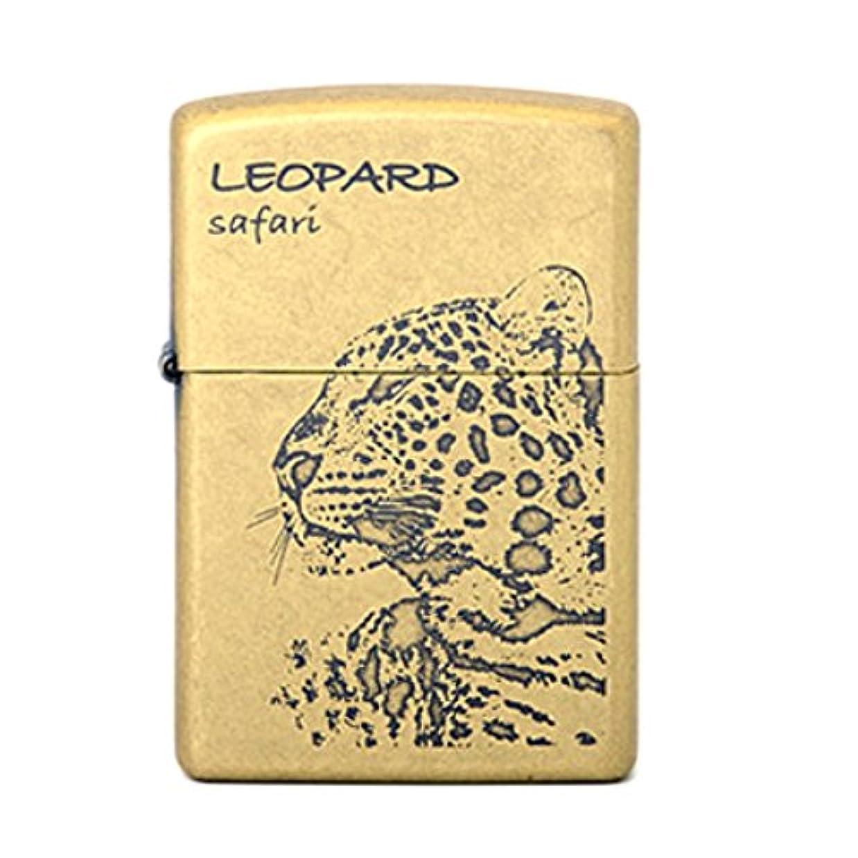 マイコンパトワ本土Zippo Leopard Safari GD Lighter ライター / 正真正銘の本物 / オリジナルパッキング(6フリントセット フリーギフト) [並行輸入品]
